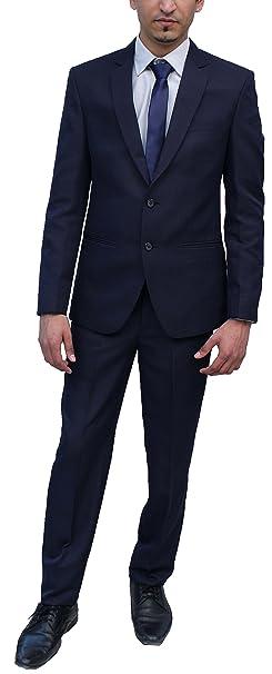 Romano de hombre elegante traje azul - Azul - : Amazon.es ...