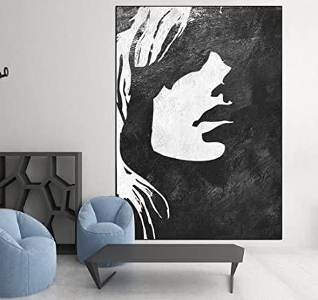 amazon large abstract art women female face painting large