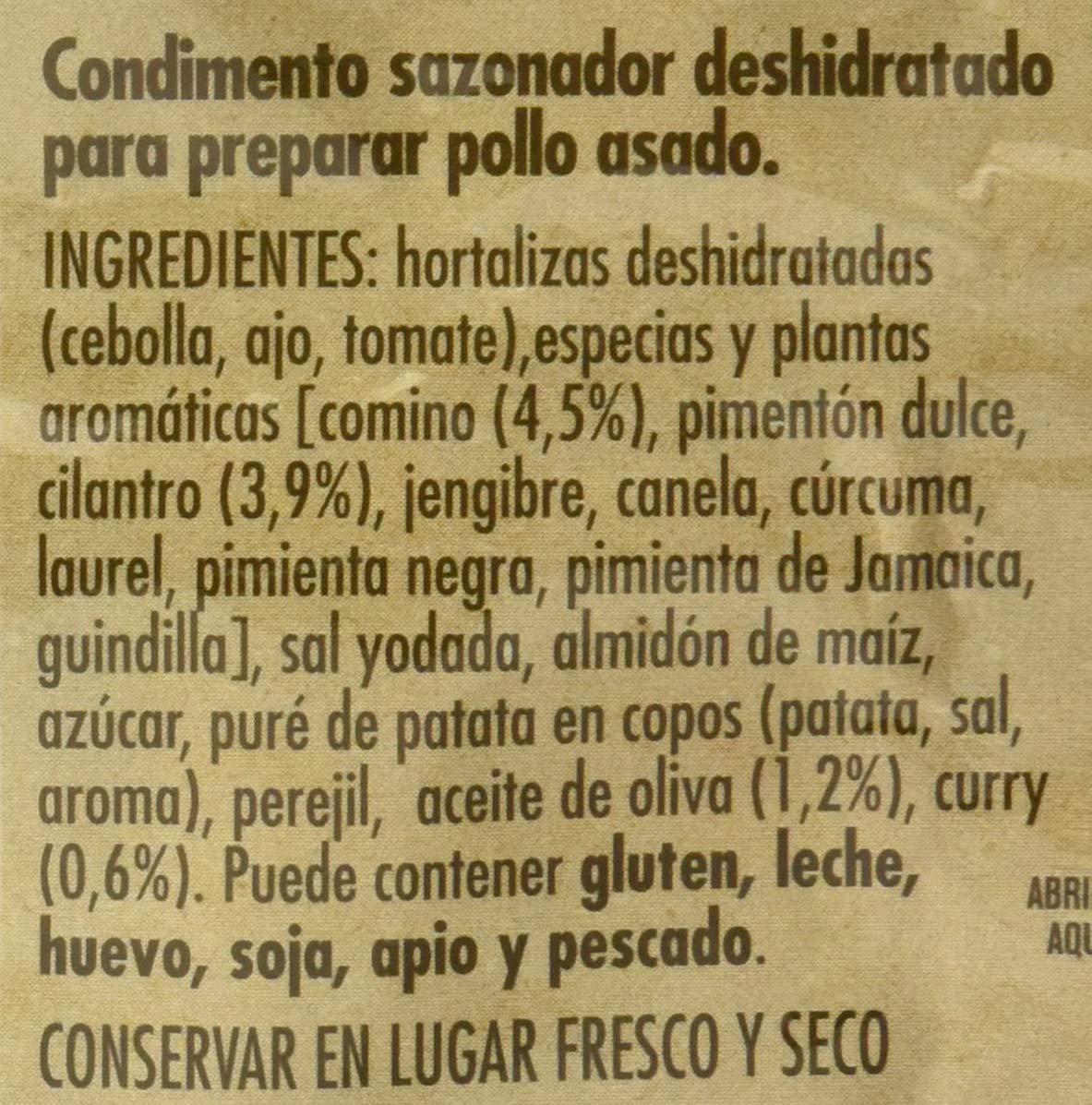 Maggi Jugoso al Horno Receta Marroquí - 1 Bolsa para Horno con Condimentos - Pack de 8x38g: Amazon.es: Alimentación y bebidas