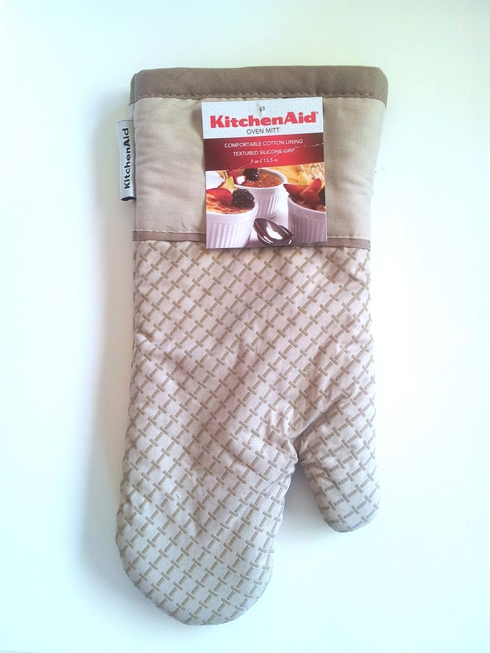 KitchenAid Oven Mitt with Printed Silicone (Sand)