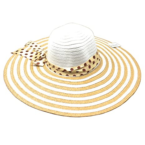 bc880d5b43ce3 Hersic Sombrero de Mimbre con Lazo  Amazon.es  Hogar