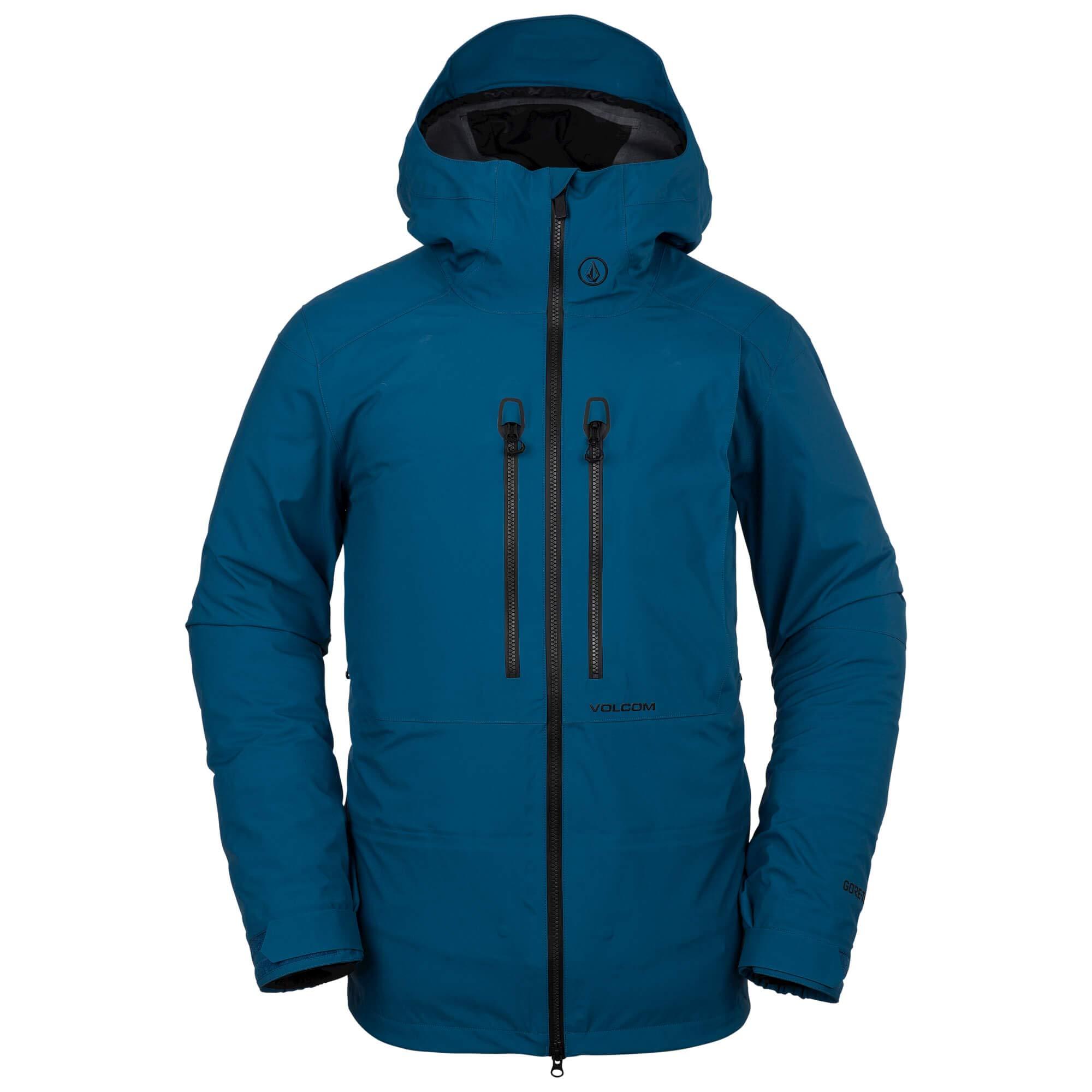 Volcom Men's Guide Gore-Tex Flannel Back Snow Jacket, Blue, Medium