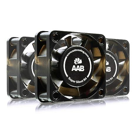 AAB Cooling Super Silent R4 - Un Silencioso y Muy Efectivo Ventilador 40mm con 9V Adaptador