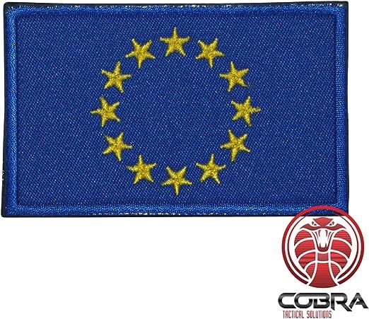 Cobra Tactical Solutions Bandera Europe Parche Bordado Táctico Moral Militar Cinta Adherente de Airsoft Cosplay Para Ropa de Mochila Táctica: Amazon.es: Hogar