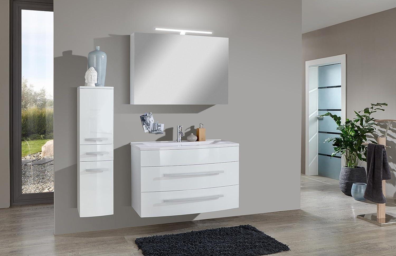 SAM® Design Badmöbel-Set Genf Deluxe 3tlg, in weiß, 90 cm ...