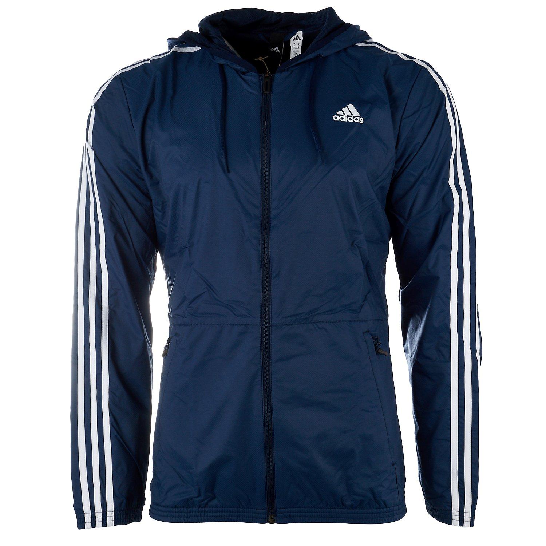 adidas Men's Essentials Wind Jacket, Collegiate Navy/Collegiate Navy/White, X-Large by adidas