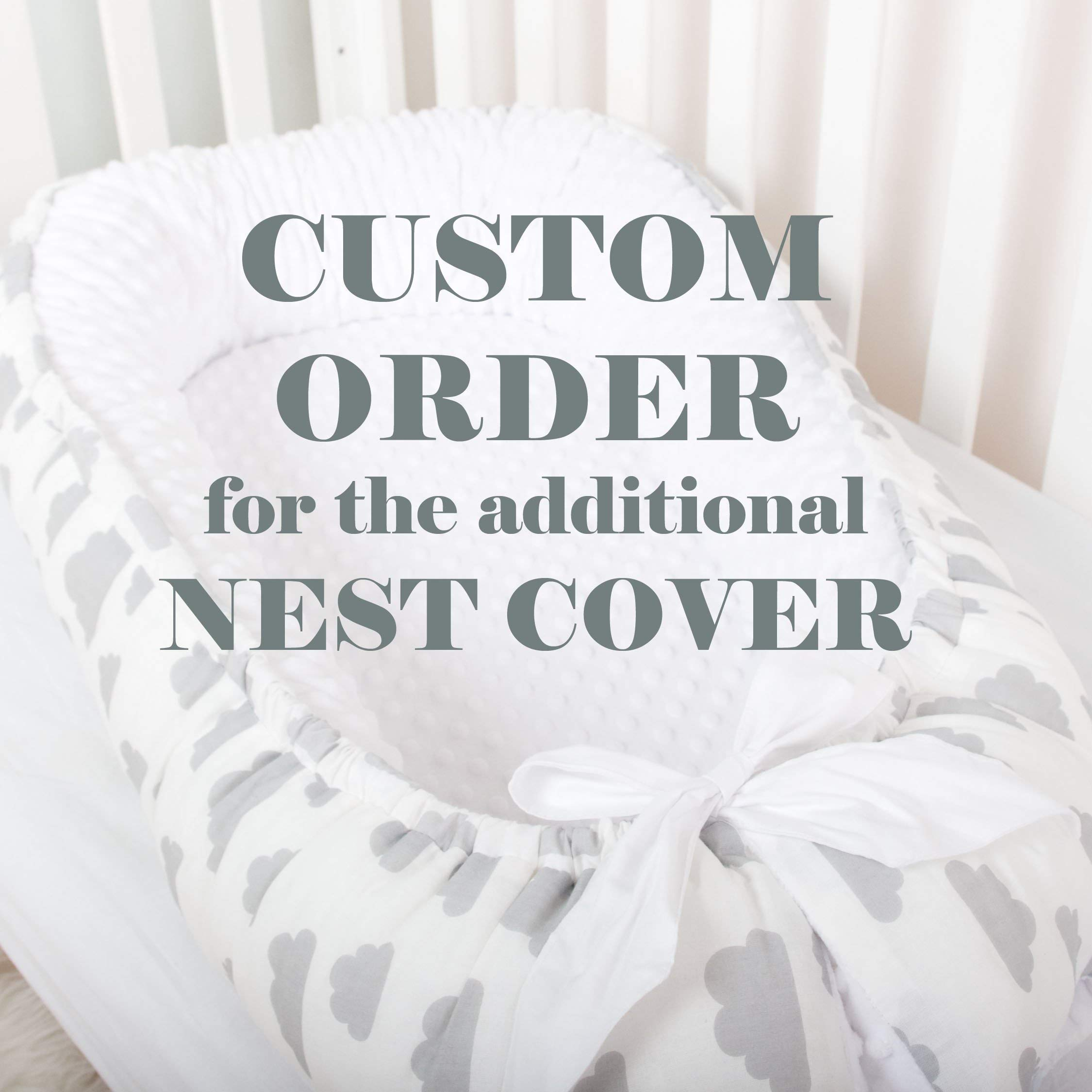 Custom order for the cotton COVER of Baby nest, toddler size nest bed portable crib lounger baby bassinet co sleeper babynest grand bed travel pad pod for newborn co sleeping