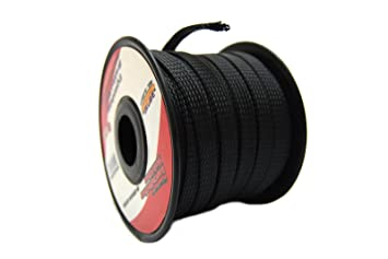 7151anOAUTL._SX355_ amazon com black 3 8 100ft braided expandable flex sleeve wiring wire harness cover at fashall.co