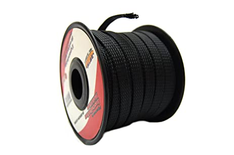 7151anOAUTL._SX463_ amazon com black 3 8 100ft braided expandable flex sleeve wiring wiring harness sleeve at alyssarenee.co