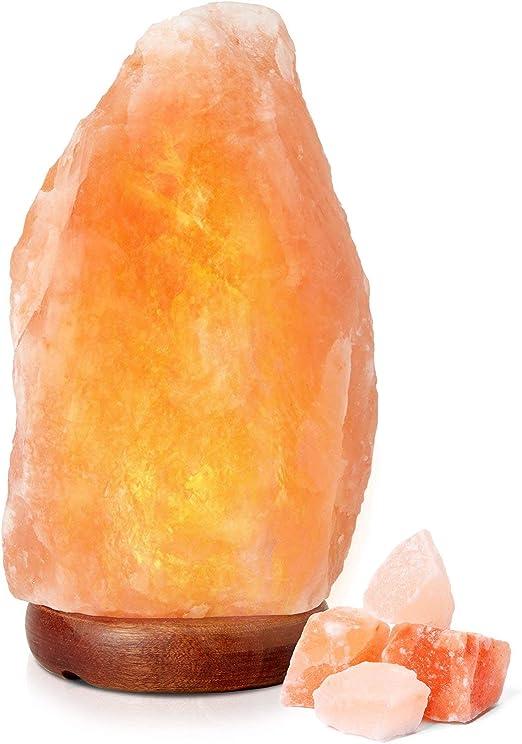 NOBGP La lámpara de Sal del Himalaya Roca Tallada a Mano Cristal ...