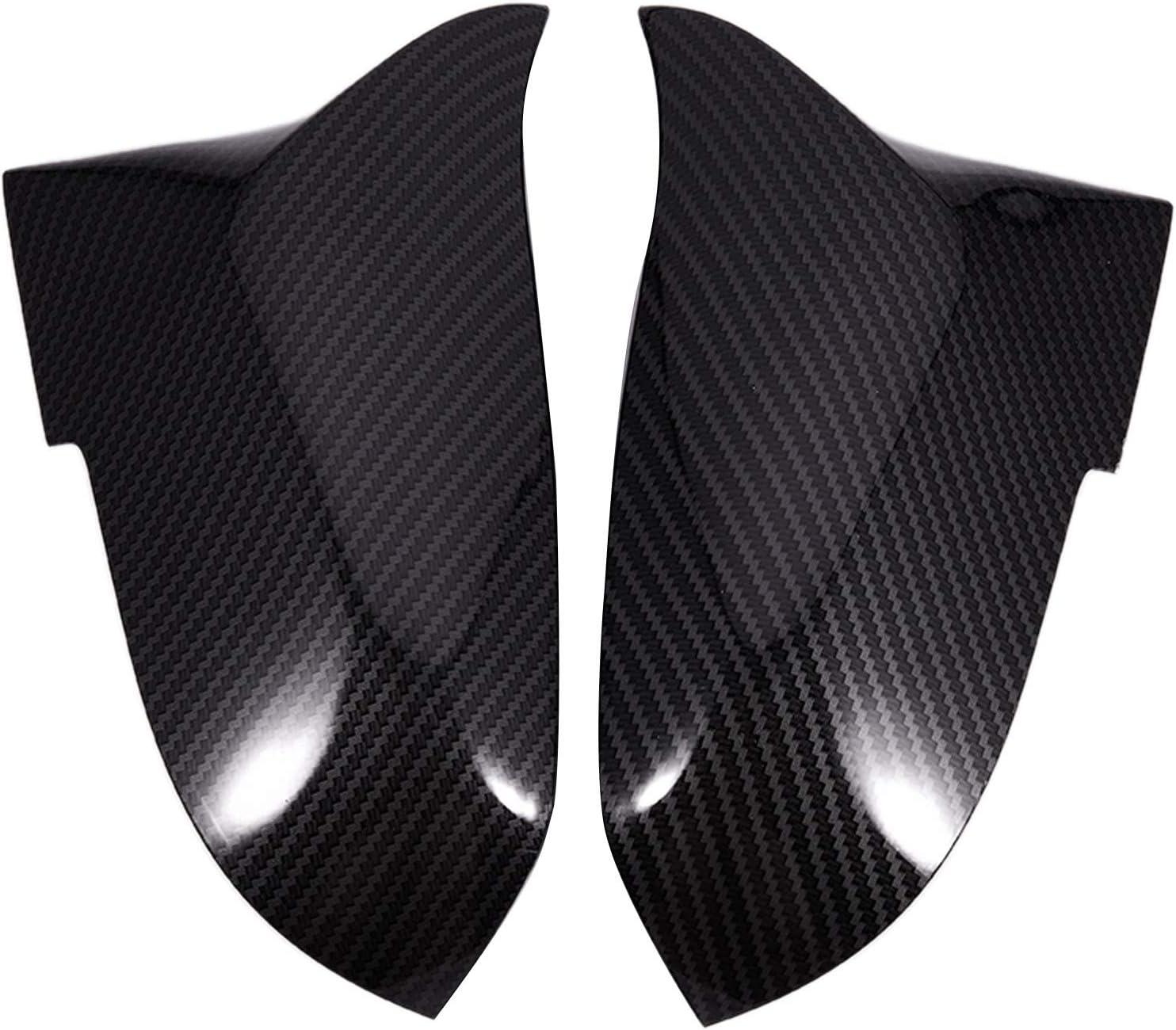 Vaorwne 1 Pair Carbon Fiber Car Rear View Mirror Cover Cap for F20 F22 F30 F31 F32 F33 F36 F34 F35 Side Mirror Cover Trim 51167292745 51167292746