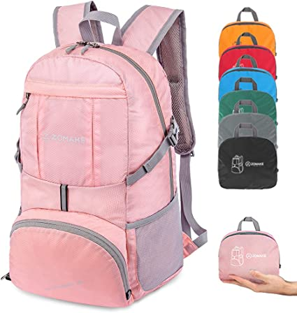ZOMAKE Ultra Lightweight Hiking Backpack 35L Foldable Water Resistant Travel