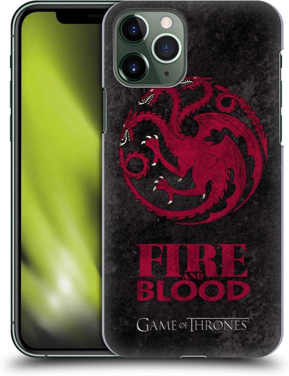 Head Case Designs Officially Licensed HBO Game of Thrones Targaryen Dark Distressed Look Sigils Hard Back Case Compatible with Apple iPhone 11 Pro