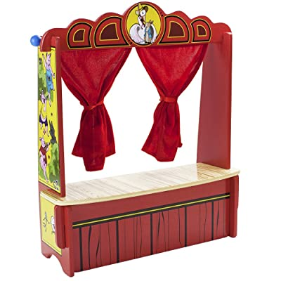 Imagination Generation Wooden Wonders Mother Goose's Tabletop Puppet Theater: Toys & Games