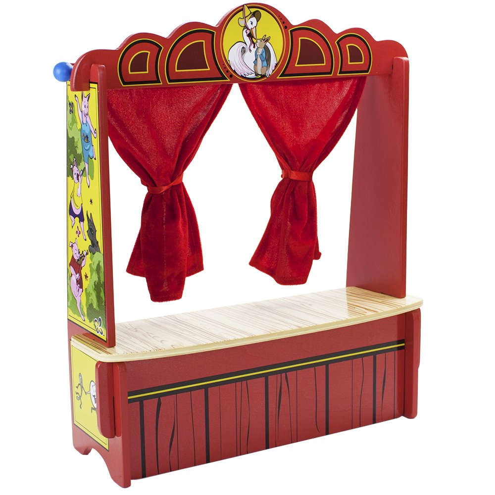 Wooden Wonders Mother Goose's Tabletop Puppet Theater by Imagination Generation