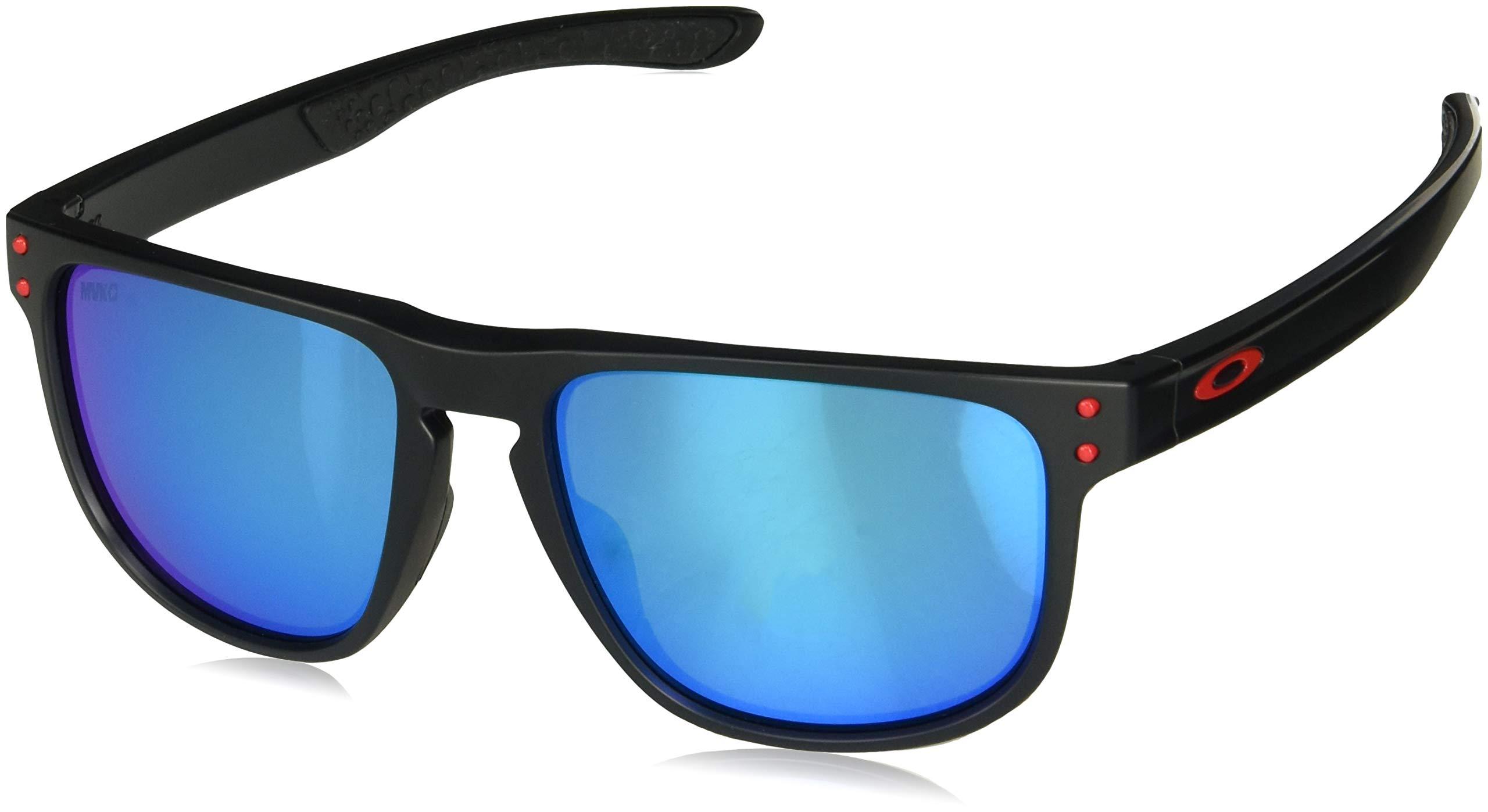 Oakley Men's OO9377 Holbrook R Square Sunglasses, Matte Black/Prizm Sapphire, 55 mm by Oakley