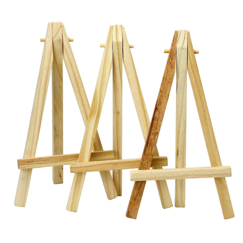 """TRIXES Mini cavalletti in legno da 6"""" di altezza per progetti artistici, foto, nomi, porta menù"""