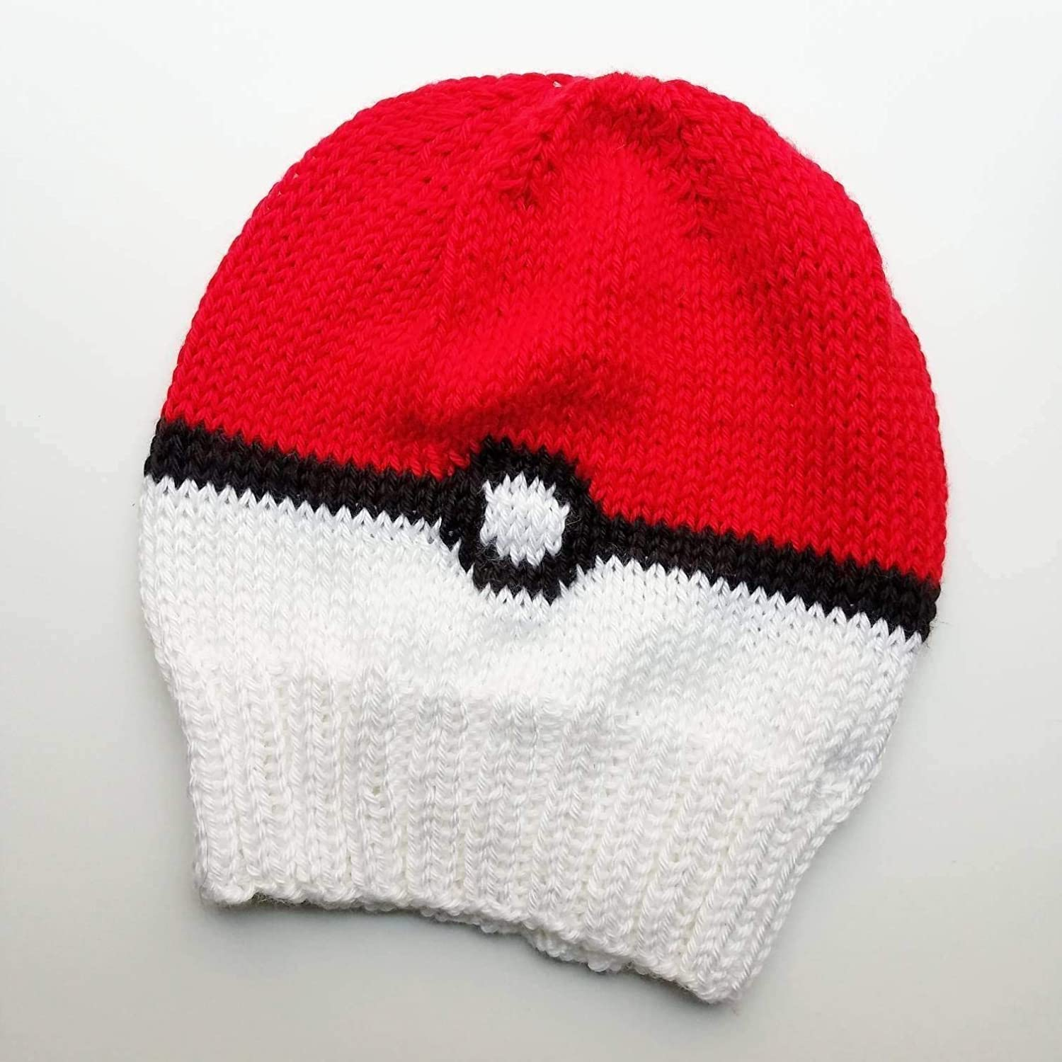 Traditional Pokeball Adult Knit Slouch Hat