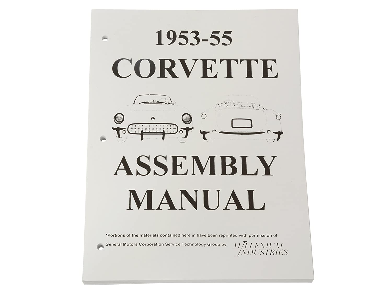1953 1955 Corvette Assembly Manual Automotive 1954 1st Series Chevrolet Truck Wiring Diagram Reprint