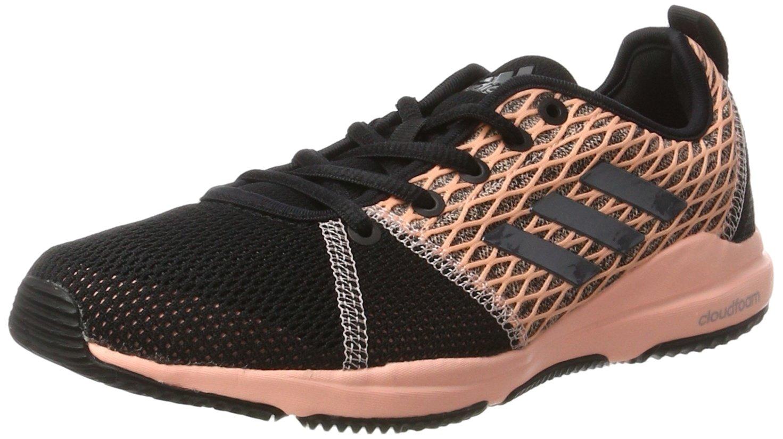 Adidas Arianna Cloudfoam, Zapatillas Deportivas para Interior para Mujer, Multicolor (Core Black/Night Metallic/Haze Coral), 38 2/3 EU 38 2/3 EU Multicolor (Core Black/Night Metallic/Haze Coral)