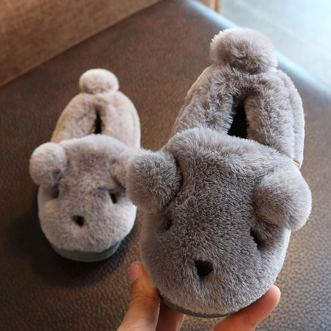 Baby Plush Cartoon Soft Sole Non-Slip Slipper Toddler Cute Warm Velvet Snow Shoes