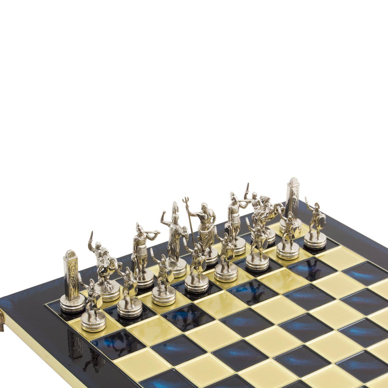 Amazon.com: Blue Poseidon Greek Metal Luxury Chess Set With Brass U0026 Nickel  Gold / Silver Coloured Chessmen: Toys U0026 Games