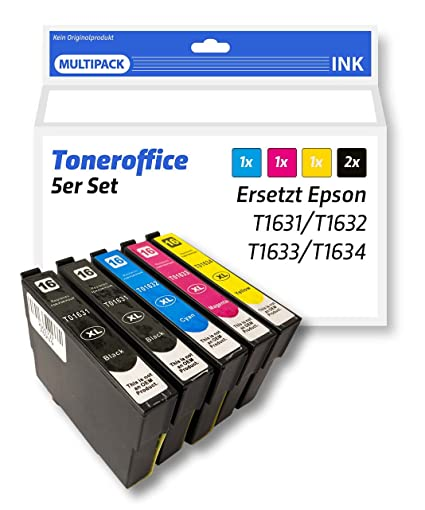 Cartuchos de impresora compatible con Epson T 1631, T 1632 T ...