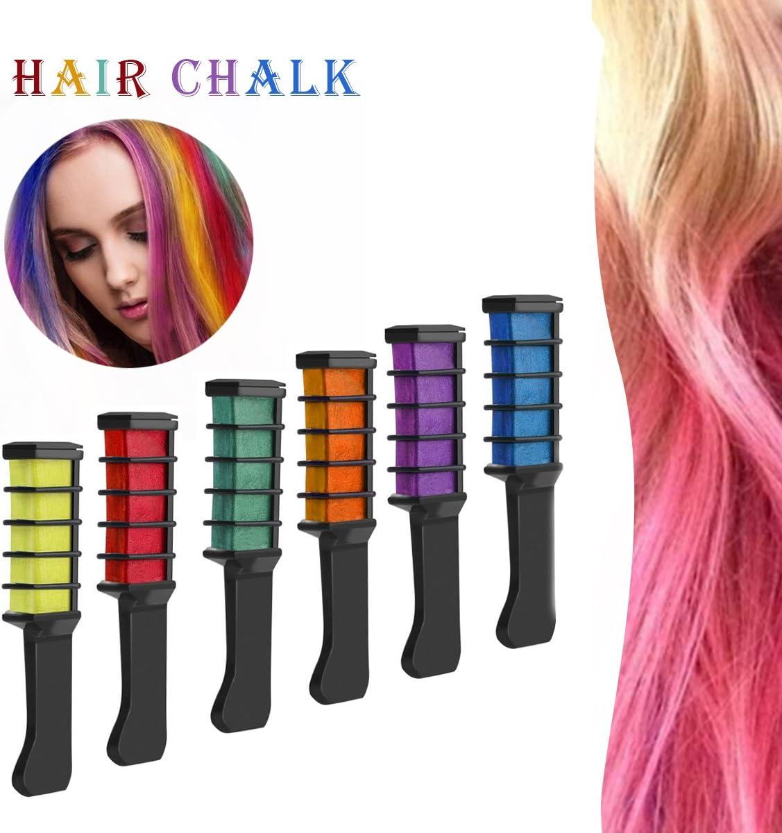 Tinte de pelo, pelo tiza peine rosa pelo marrón rizado pelo ...