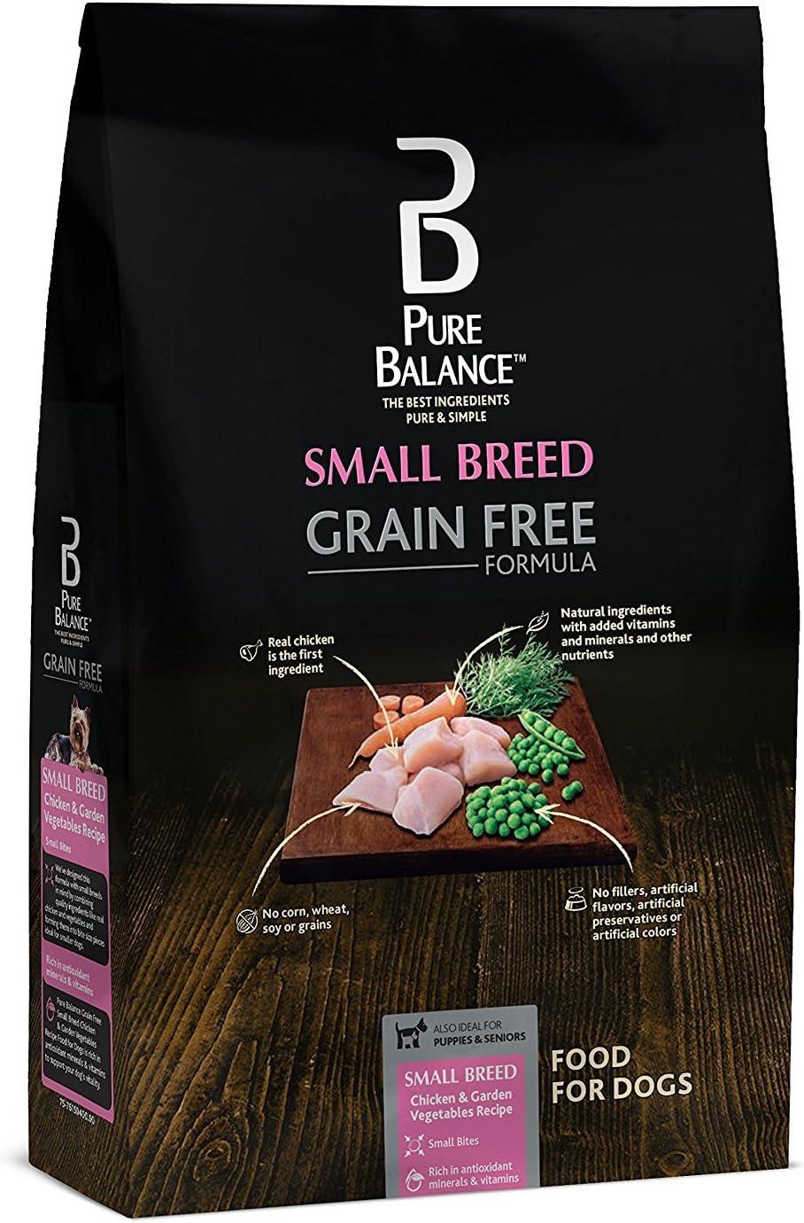 Pure Balance Small Breed Dog Food, Grain Free Chicken & Pea Recipe, 4 lbs