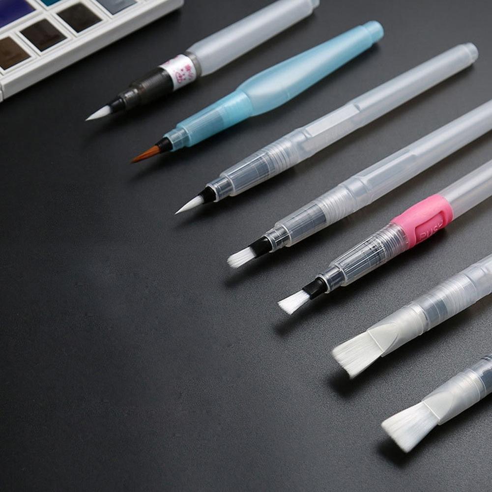 Kinbelle 7PCS Refillable Pilot Water Brush Ink Pen For Paint Watercolor 7PCS/SET