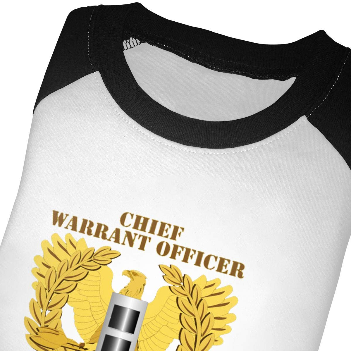 Yimo US Army Retired Chief Warrant Officer Emblem CW3 Unisex Toddler Baseball Jersey Contrast 3//4 Sleeves Tee
