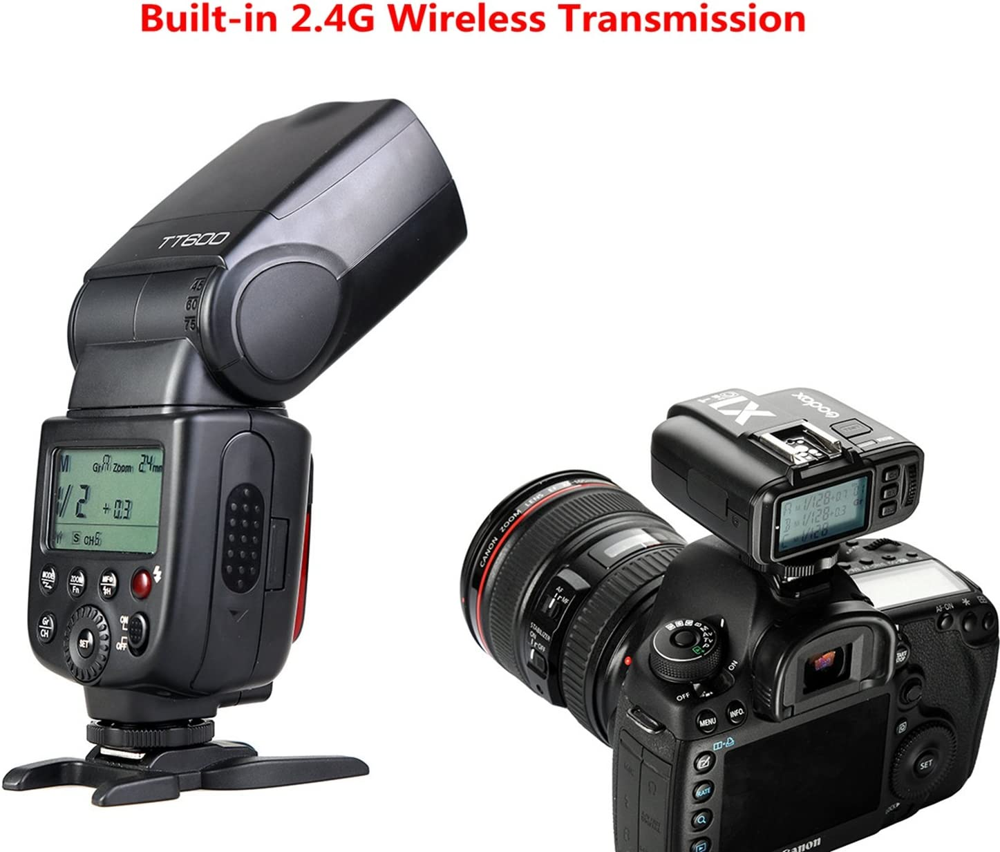Godox TT600 Flash Speedlite with Built-in 2.4G Wireless Transmission for Canon Pentax Olympus and and Other Digital Cameras Nikon