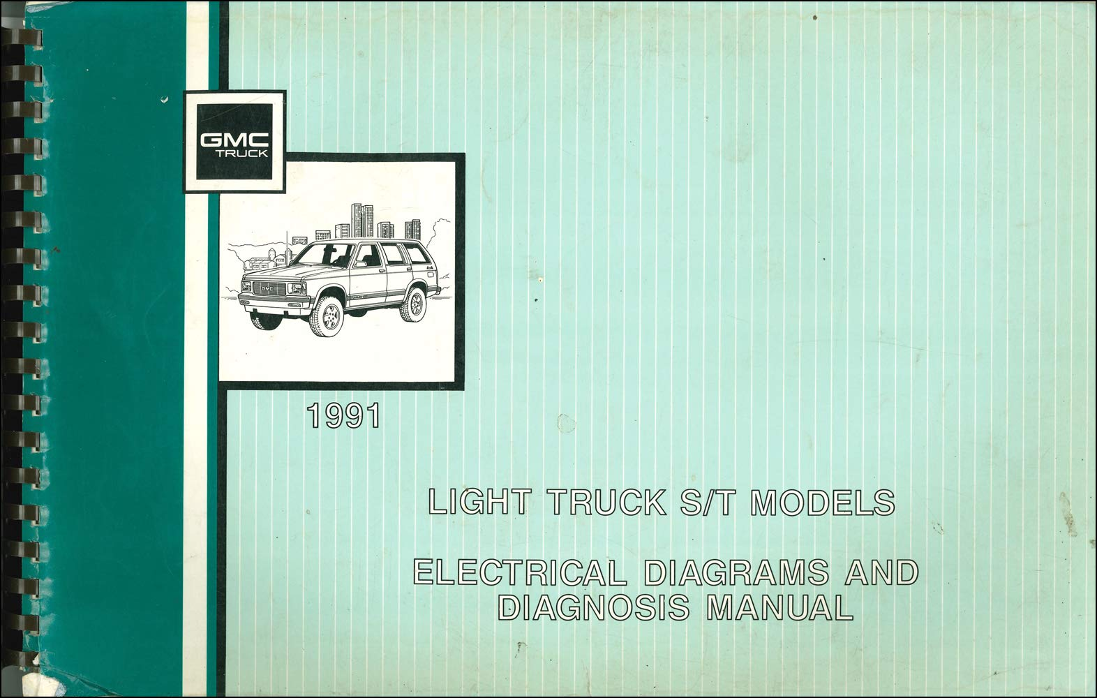 1991 gmc s15 sonoma pickup & jimmy wiring diagram manual original paperback  – 1991