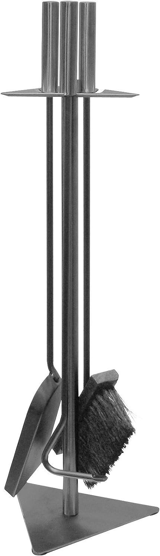 Kamino-Flam 337201 Juego de Herramientos para Chimenea, Acero, Gris Hierro, 18.5x5.5x56 cm