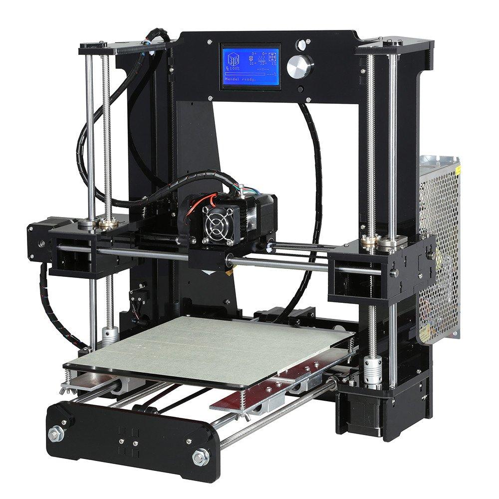 A6 I3 DIY impresora 3D Con placa de calentamiento Apoyo PLA/ABS ...