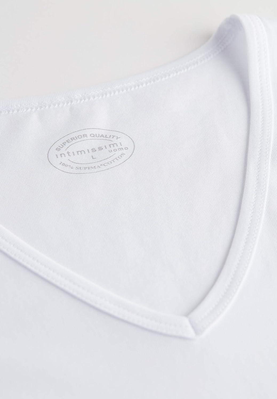 Intimissimi Mens Sleeveless V-Neck Supima Cotton Top
