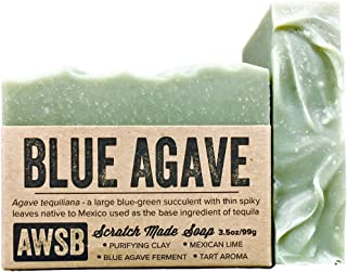 product image for Blue Agave Bar Soap with Mexican Lime, Vegan, All Natural with Organic Ingredients, Handmade by A Wild Soap Bar