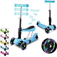 Deals on WeSkate Kids Scooter with Reovable Seat 3 Wheel