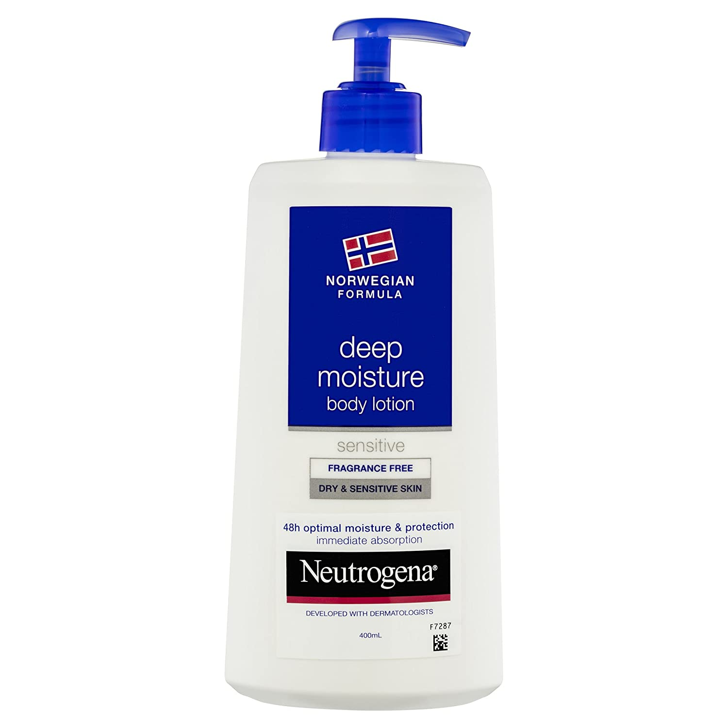 Neutrogena Deep Moisture Body lotion Sensitive and Fragrance Free for Dry and Sensitive Skin, 13.5 Ounce