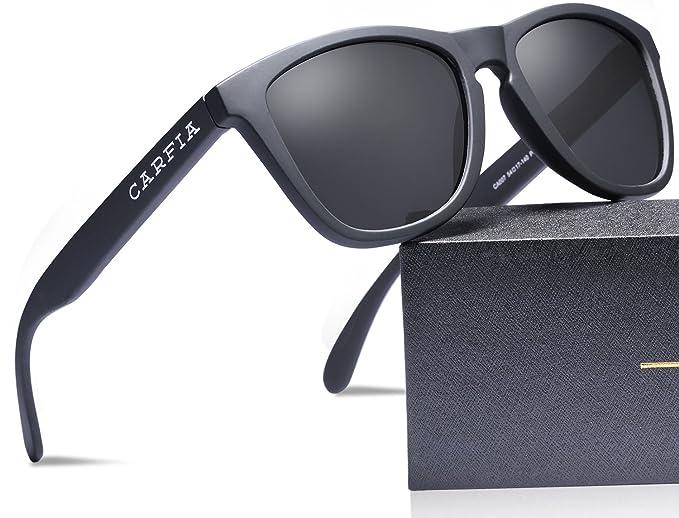 Gafas de Sol, Carfia Gafas de Sol Unisex Polarizadas con 100% Prtección UV400 para Viaje y Depoete al Aire Libre