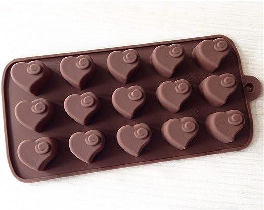 قوالب حلوى شوكولاتة السيليكون: قوالب خبز سيليكون للكعك ، براوني توبر ، حلوى صلبة وناعمة ، غامي ، جيلو ، كيتو فات بومب - أشكال الحب اللطيفة في صواني بنية - لوازم الحرف من YSCENL