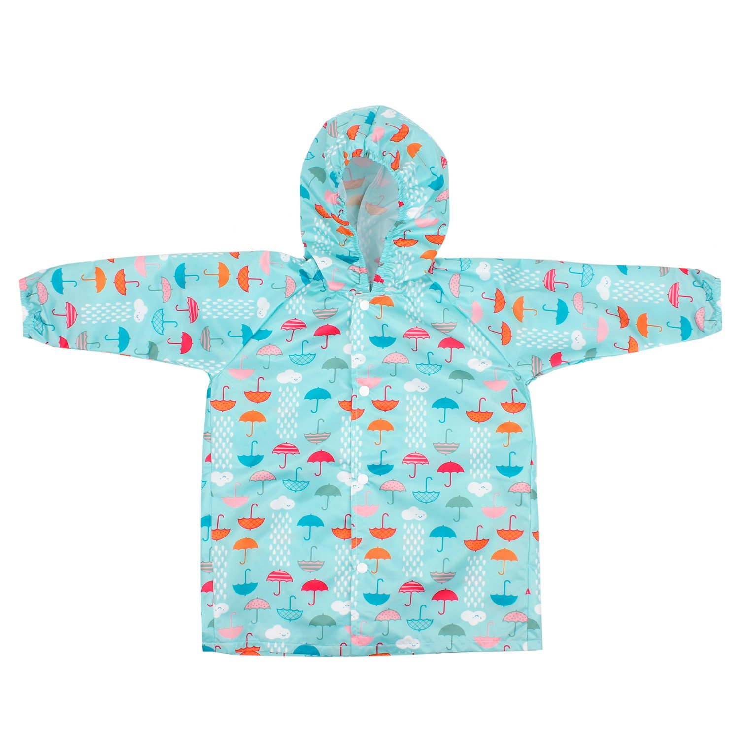 Bumkins Baby Rain Jackets. Urban Bird Design.white (6-18 months)