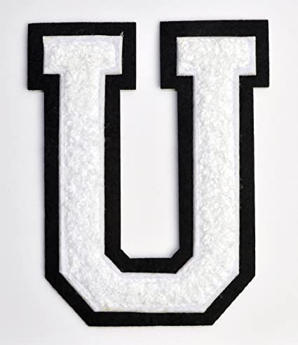 Amazon Com Varsity Letter Patches White Chenille Letterman U