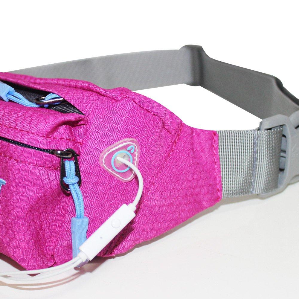 FREE KNIGHT Packs Water Resistant Waist Bag for Men and Women Travel Running,Mens Waist Bag,Womens Waist Bag, pink