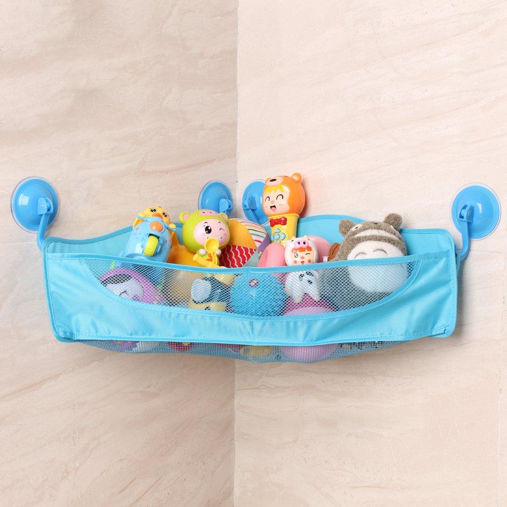 HIPPIH Bath Toy Organizer Bath Toy Bathtub Storage with 4 Strong ...