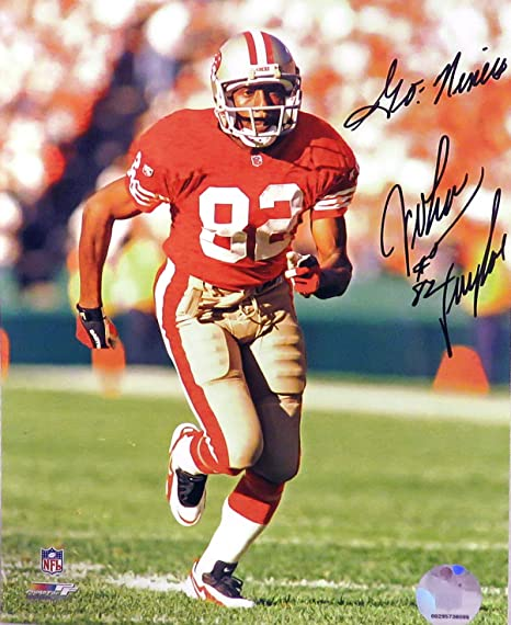 """SF 49ers John Taylor Autographed """"Go Niners!"""" 8x10 Photograph (unframed) 7734268be"""