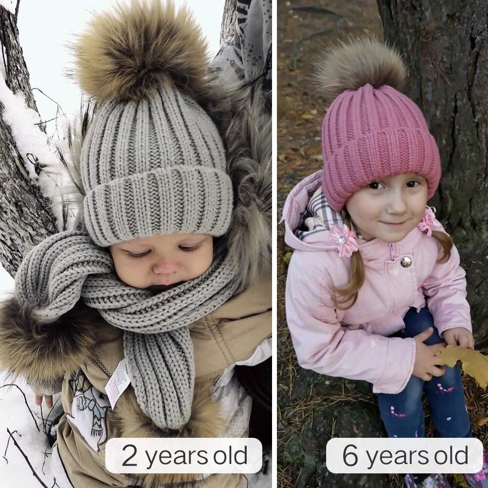 35f51cb3f5e ... FURTALK Kids Winter Pom Pom Hat - Knitted Beanie Hats for Children Girls  Boys Original Smallhat01 ...