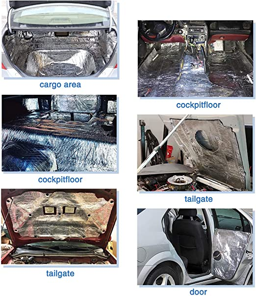 uxcell a17042100ux0944 As As Image 394mil 21.53sqft Car Fender Engine Heat Sound Deadening Insulation Mat 79 x 40