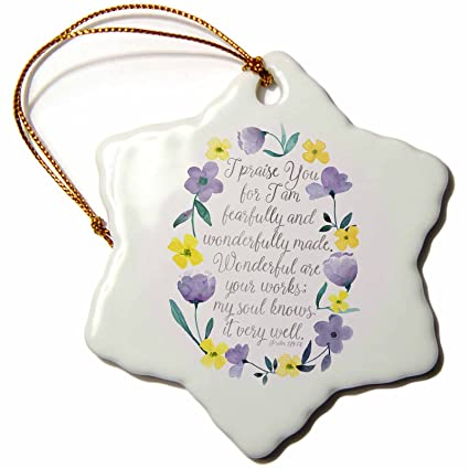 Porcelain 3dRose orn/_164541/_1 You are My Sunshine Blue Sky Inspirational Art-Snowflake Ornament 3-Inch