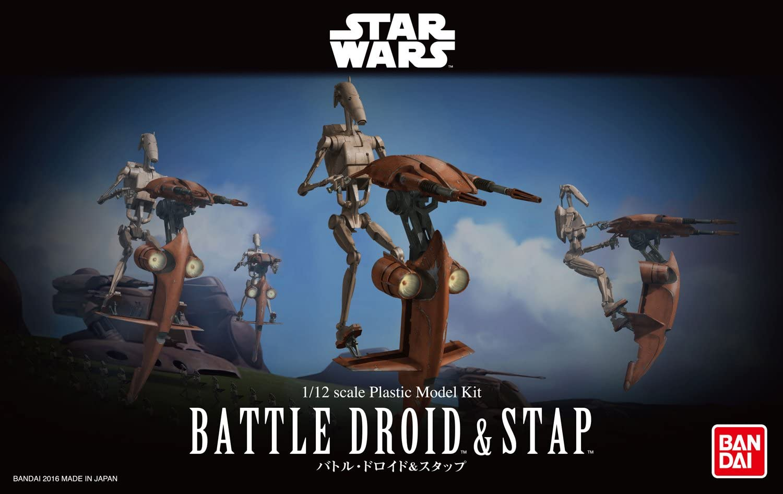 Star Wars 1:12 Scale 3D Imprimé gonk et souris Droid Kit Série Black taille